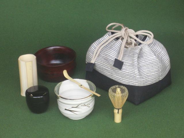 お茶ごころ(巾着入 ミニ茶道具セットC-1