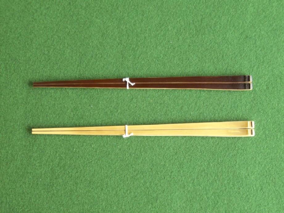 夫婦箸(煤竹、白竹)二膳セット(箸置き付)